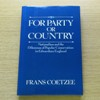 For Party or Country: Nationalism and the Dilemmas of Popular Conservatism in Edwardian England.
