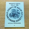 County of Salop Steam Engine Society Ltd: Bishop's Castle Rally 1983.