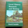 Local History Research and Writing.
